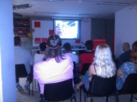 Debat Homes Igualitaris Socialistes a la seu del PSC Gràcia.