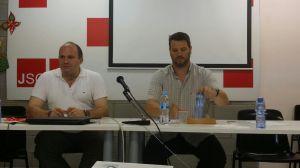 Cristobal Aviles, Vicepresident del Consell Igualtat del PSC i Lluís Fuentes, Portaveu del grup HIS a Barcelona.