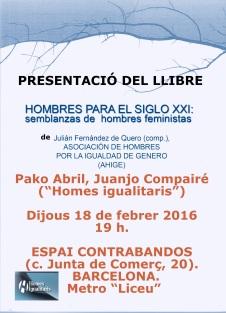 PRESENTACIÓ DEL LLIBRE, CARTELL